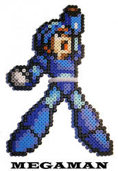 Megaman Bead Sprite by Freyja713