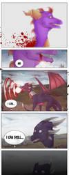 Turning into Dark Spyro (pg 1) by TotSAARKONN