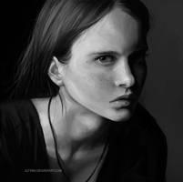 Portrait Study by Astri-Lohne