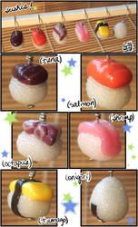 charm : sushi - stitch markers by kumquatgirl