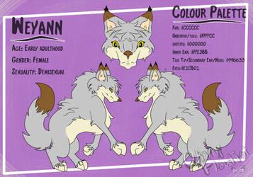 Weyann Reference Sheet by OkamiFlautist