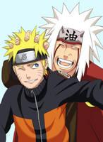 Naruto and Jiraiya by Sophie4391