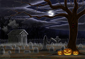 All Hallows eve by BlueRavenfire