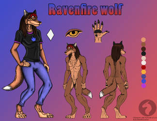 Ravenfire wolf by BlueRavenfire