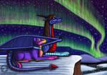 Aurora night by BlueRavenfire