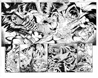 JLA Hawkman and Demon 03 n 04 by JoePrado2010