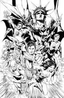 JLA NY Comicon 2011 Poster by JoePrado2010