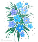 Forget-me-nots by mia-sko