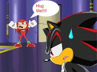 Knuckles hugs by Dr-Spudhead