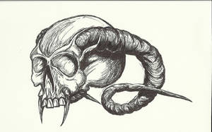 HORNED SKULL by THEloathedONE