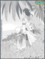 Beach Cover Commission pencils by baby-marshmallow