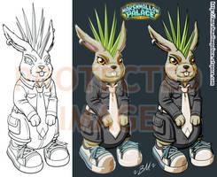 Mohawk Rabbit Mascot vector by baby-marshmallow
