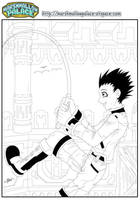 Gon Finishing Inked by baby-marshmallow