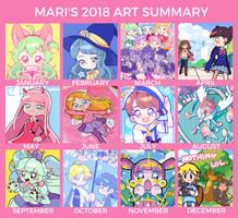 2018 Art Summary by marikyuun