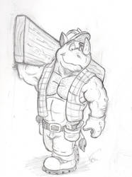 Construction worker Rhino by Krunchycroc