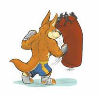 Kangaroo punch! by Krunchycroc