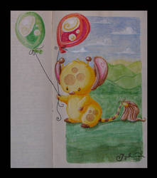 +Giraffe.et.Borrowed.Balloons+ by Feathers-of-Love