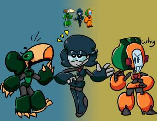 3 machine gals by OldSpy1