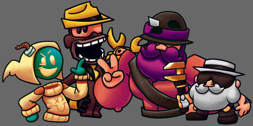 four funny men by OldSpy1