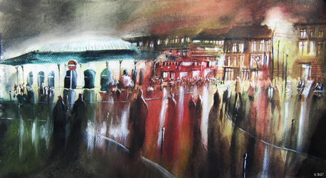 National day - Watercolor by nicolasjolly