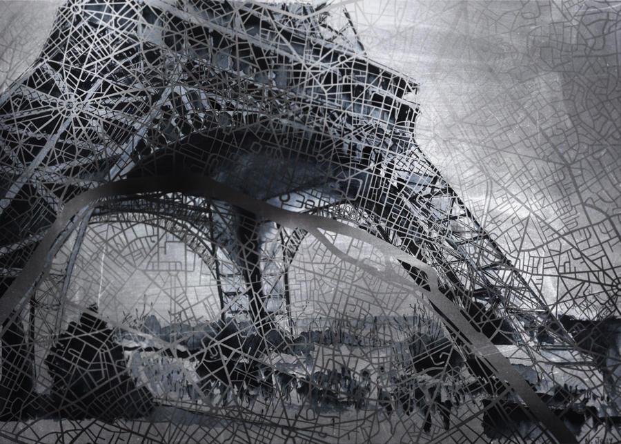 Paris Map Eiffel Tower By Nicolasjolly On Deviantart