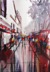 Paris Painting Montmartre by nicolasjolly