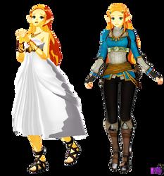 TLOZ BOTW TDA Princess Zelda by Jfazbeard
