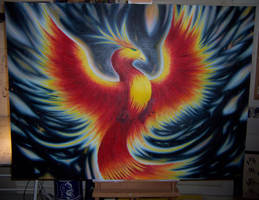 Phoenix Rising by comic-burn