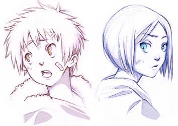 Digimon kiddos by LaFumiko
