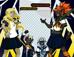 Chiri VS Kiel Schoolfight by drowtales