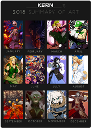 2018 Summary Of Art by drowtales