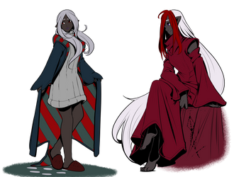 Ariel Chrys classic outfits by drowtales