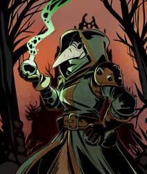 darkest dungeon Plague doctor by drowtales