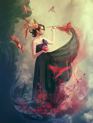 woman artist by Vasylina