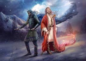 Slavic mythology. Belobog and Chernobog by Vasylina