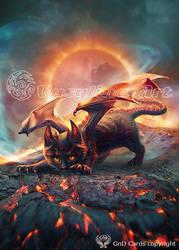 Cat-dragon by Vasylina