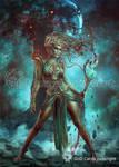 Vraska, Scheming Gorgon by Vasylina