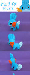 Mudkip Plush (Pattern Commission) by Luminous-Luchador