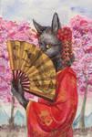 Fox geisha by Phoeline