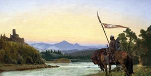 Romantic landscape by Infernallo