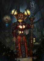 Dwarf hunter (female) by artkingman