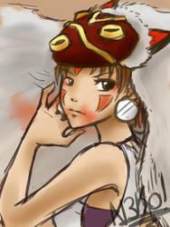 Princess Mononoke by xXLaGataNegraXx