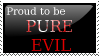 Pure Evil Stamp by silent33