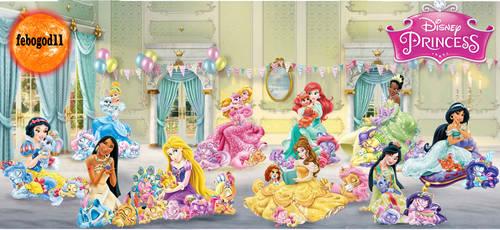 Disney Princess- Palace Pet Nap by febogod11