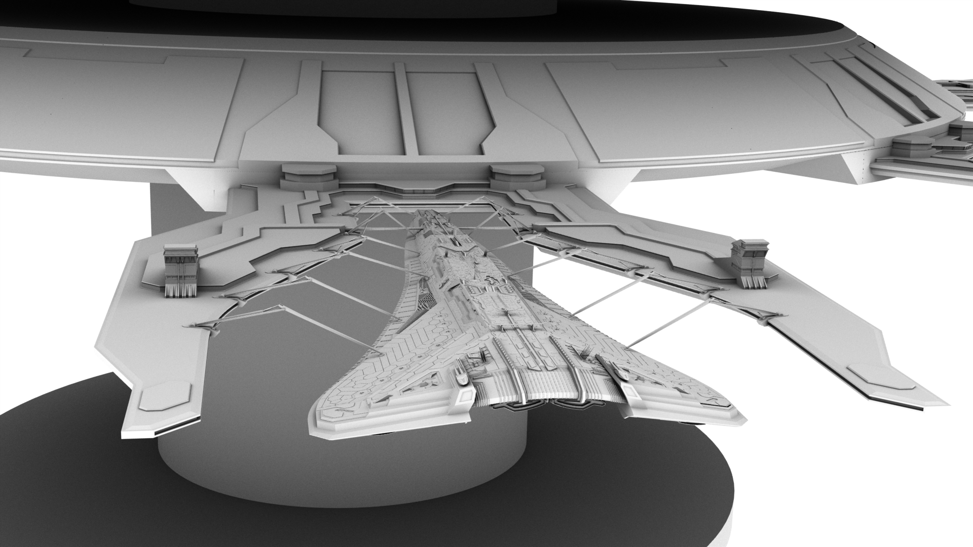 X-307 Completed and docked to something by Deliciusman