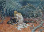 The death of Glaurung by EKukanova