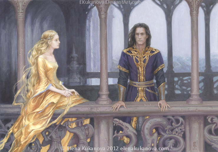 Nargothrond. Turin and Finduilas by EKukanova