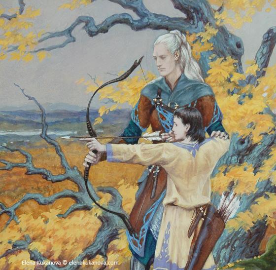 Beleg and young Turin (fragment) by EKukanova