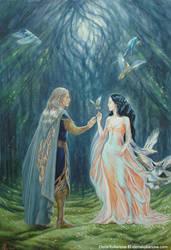 Nan Elmoth. Elwe and Melian by EKukanova