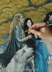 WIP- Celegorm and Luthien by EKukanova